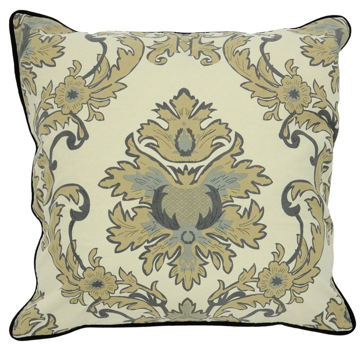 Marquee 22x22 Cotton Pillow, Green