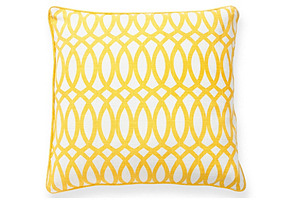 Trellis 22x22 Pillow, Yellow