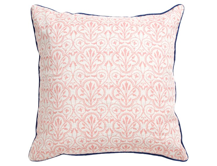 Damask 22x22 Pillow, Pink