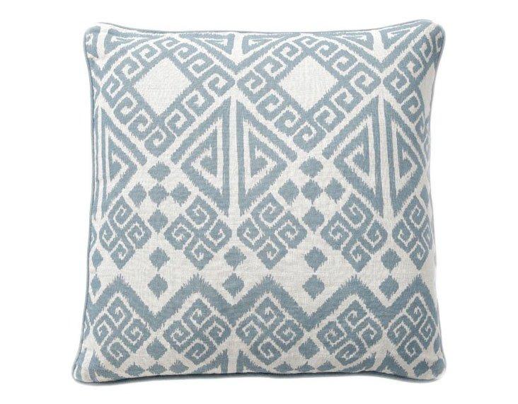 Tangier 22x22 Linen Pillow, Blue