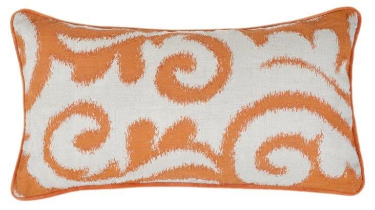 Sarasha 14x26 Linen Pillow, Orange