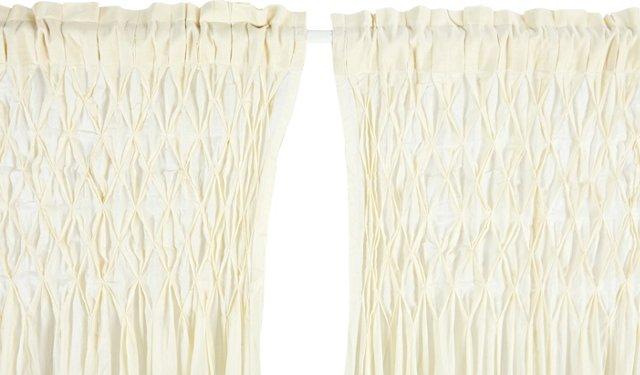 Sheer Cotton Curtain, Cream