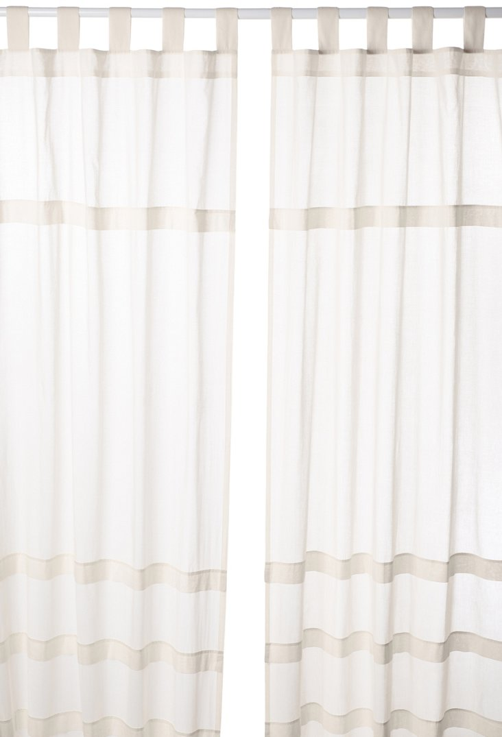 Set of 2 Sheer Curtains, Tea Stain