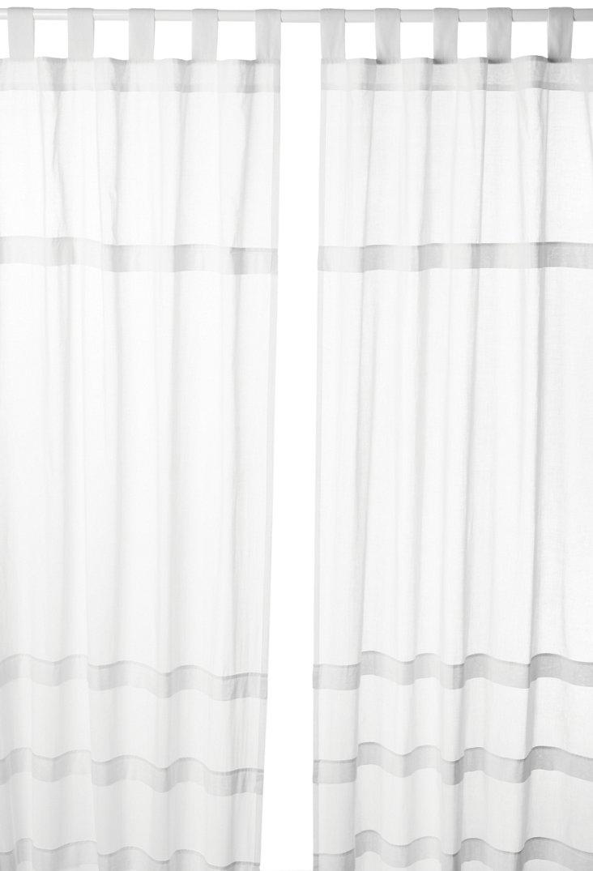 Tab Top Cotton Curtain, White