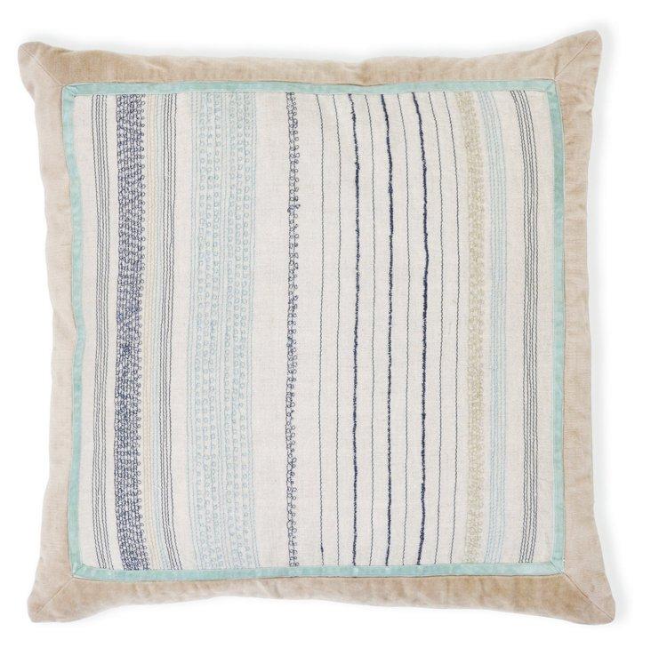 Dorset 22x22 Linen Pillow, Multi