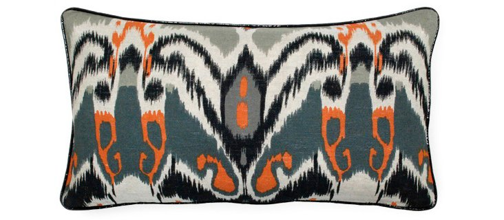 Ikat 14x26 Linen Pillow, Multi