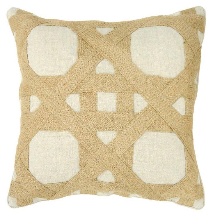 Hartford 18x18 Linen Pillow, Natural