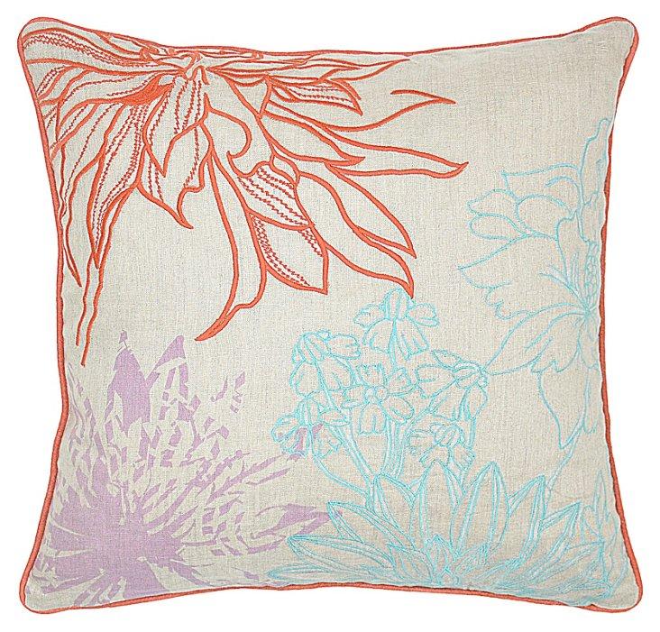 Sofie 22x22 Cotton-Blended Pillow, Multi