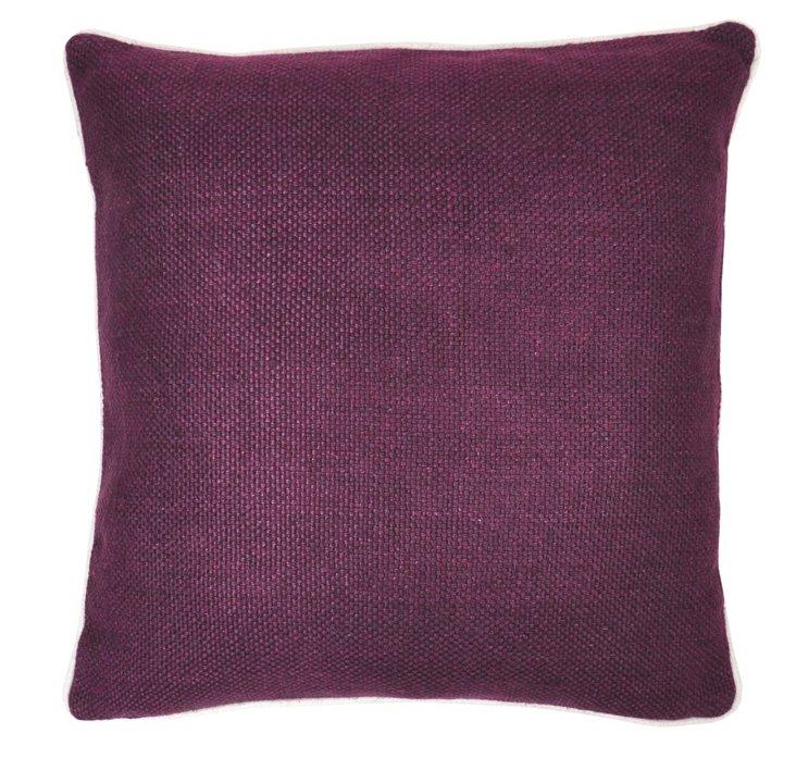Piping 20x20 Linen Pillow, Violet