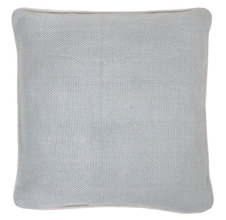 Piping 20x20 Linen Pillow, Marine