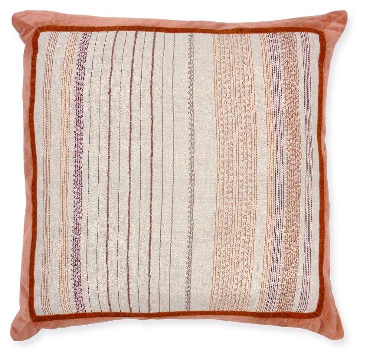 Gara 22x22 Linen Pillow, Sunset