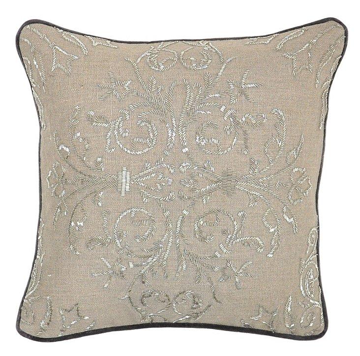 Parker 18x18 Linen Pillow, Natural