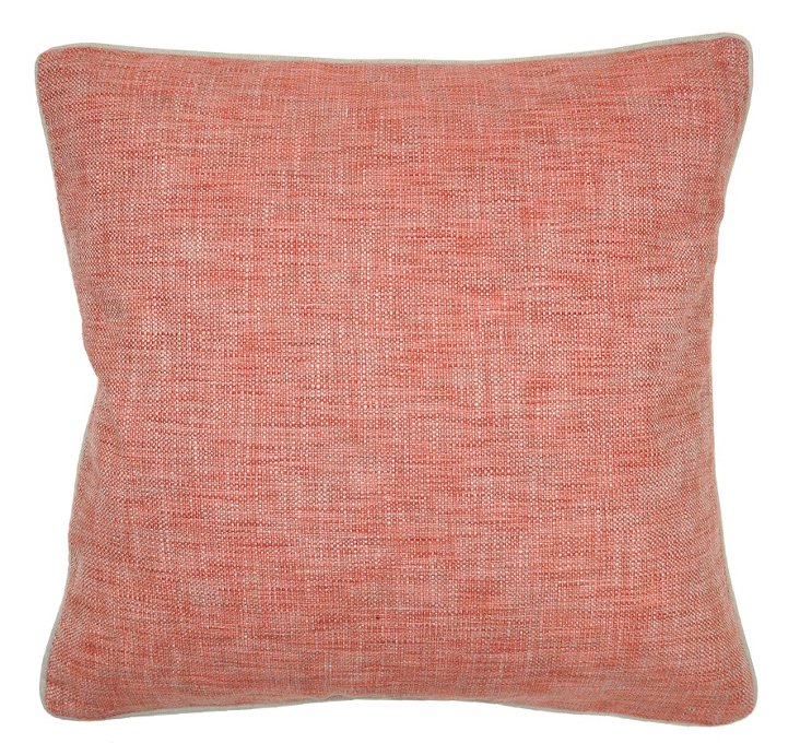Textured 22x22 Pillow, Red