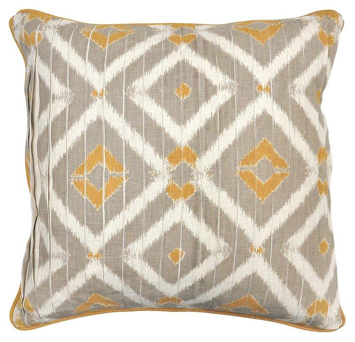 Southwest 22x22 Cotton Pillow, Natural