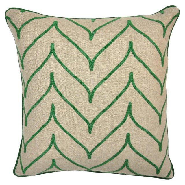 Mai 22x22 Linen Pillow, Green