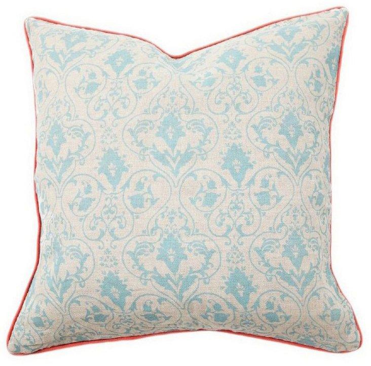 Gate 22x22 Cotton Pillow, Multi