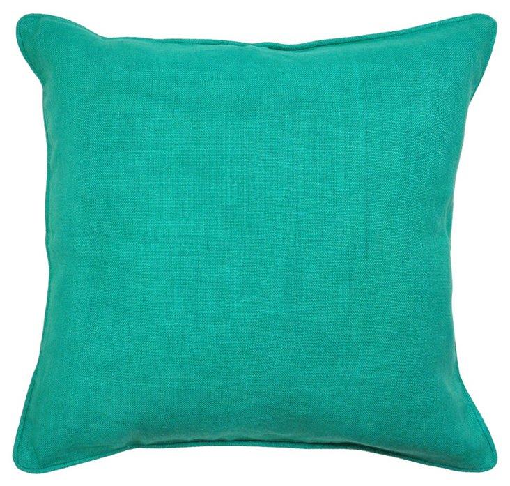 Metro 22x22 Cotton Pillow, Green