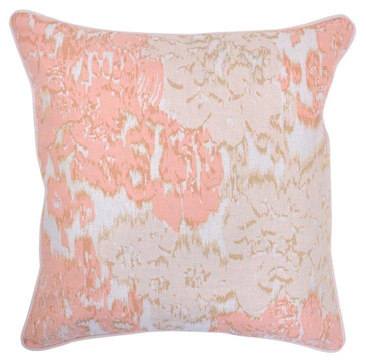 Lorraine 22x22 Cotton Pillow, Apricot