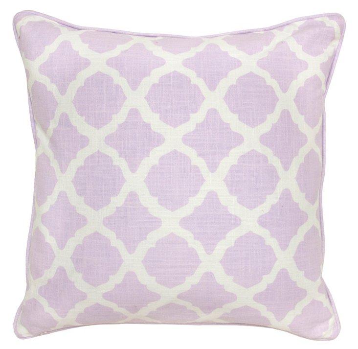 Britt 22x22 Cotton Pillow, Lavender