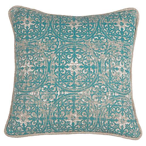 Laurent 18x18 Pillow, Teal