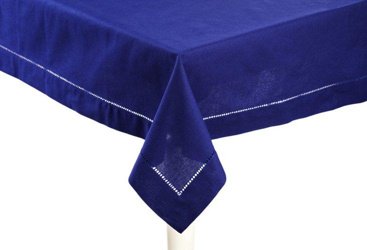 Blue Hemstitch Tablecloth
