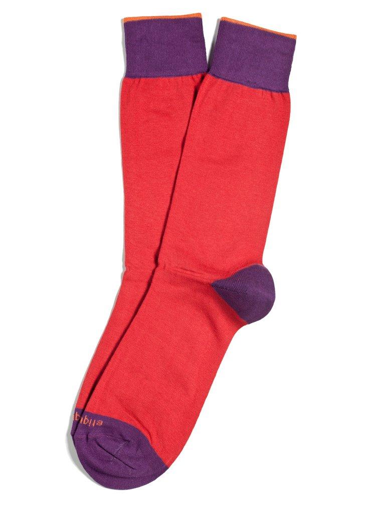 S/2 Men's Tri-Pop Socks, Burnt Orange