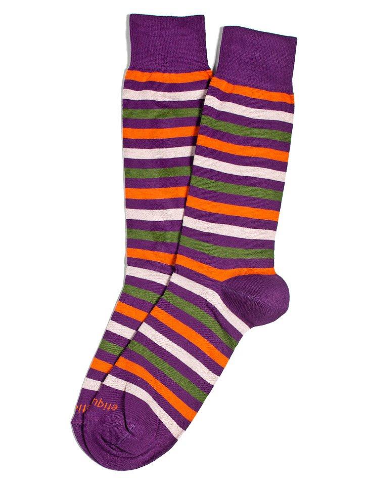 S/2 Men's Crosswalk Socks, Purple