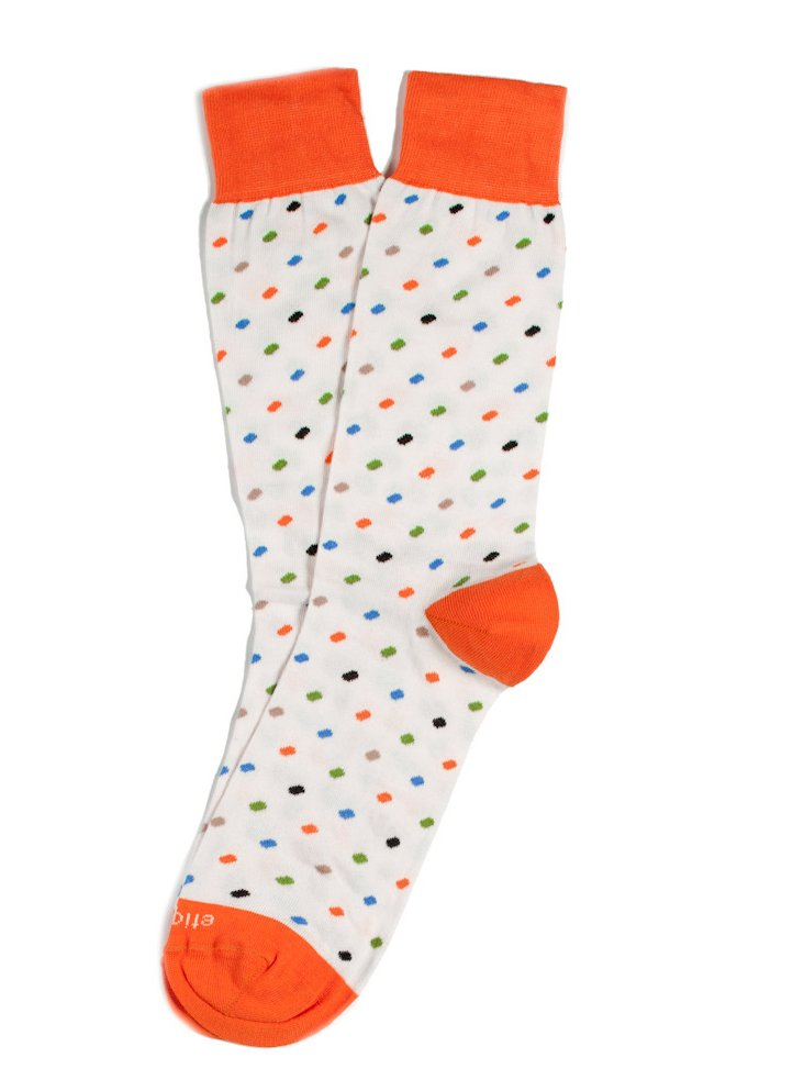 S/2 Men's Pebble Socks, Cream