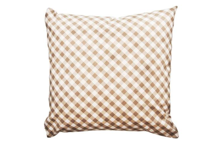 Check 20x20 Pillow, Maple