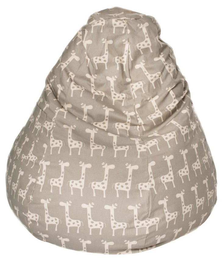 Giraffe Bean Bag, Grey