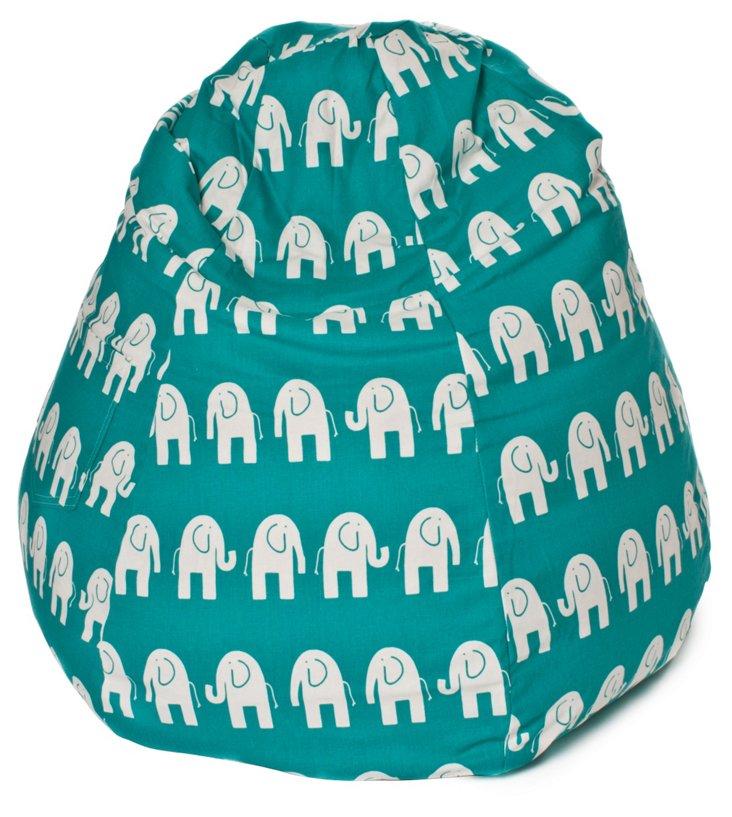 Elephant Bean Bag, Turquoise