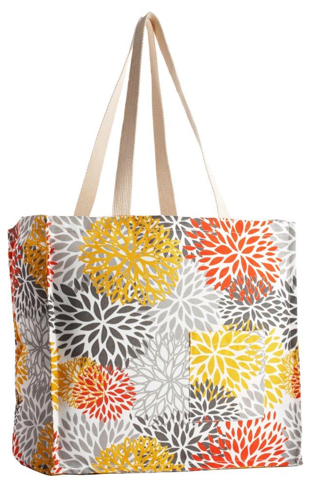 Blooms Tote Bag, Citrus