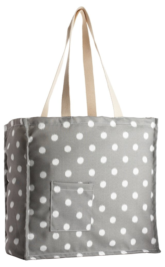 Polka Dot Tote Bag, Gray