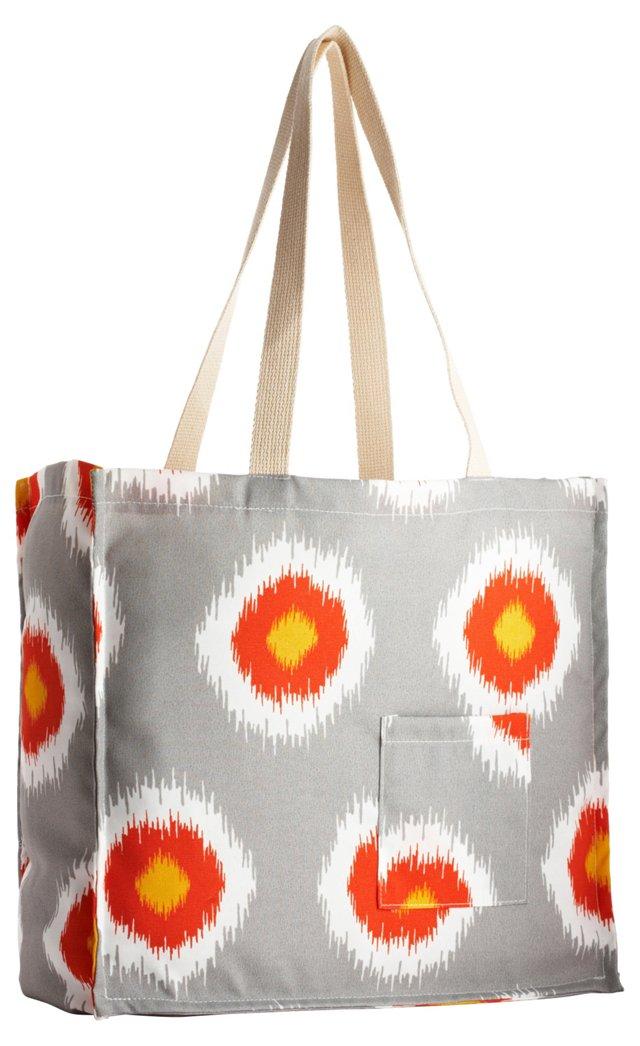 Ikat Domino Tote Bag, Citrus