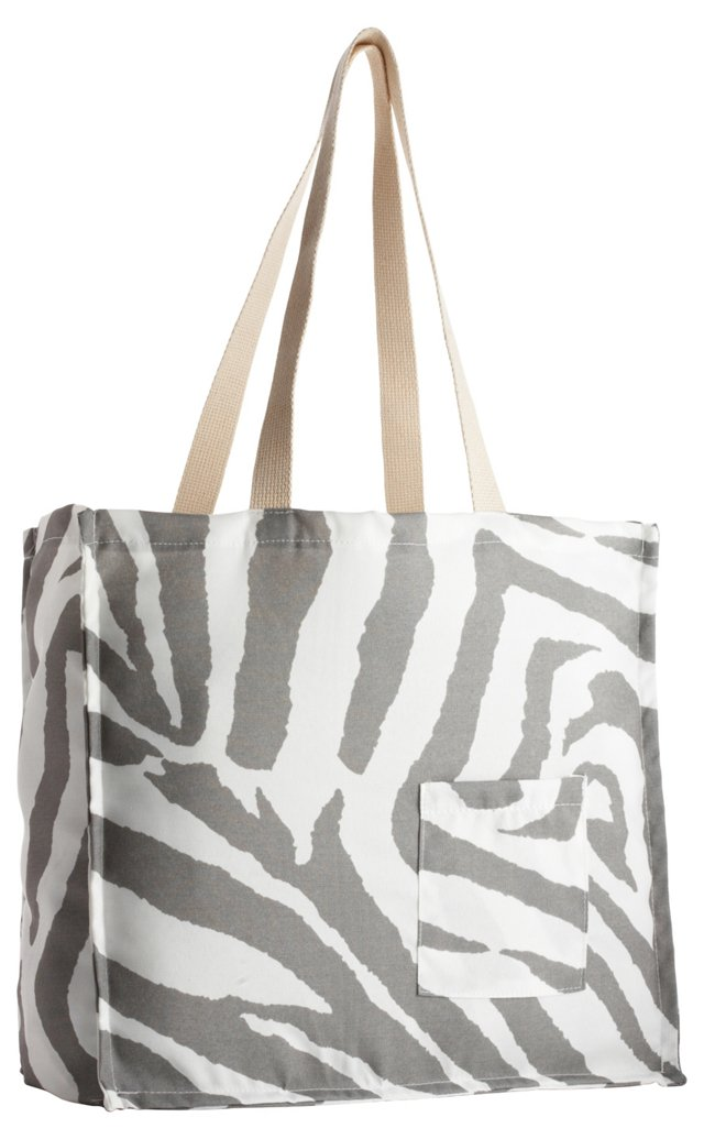 Zebra Tote Bag, Gray