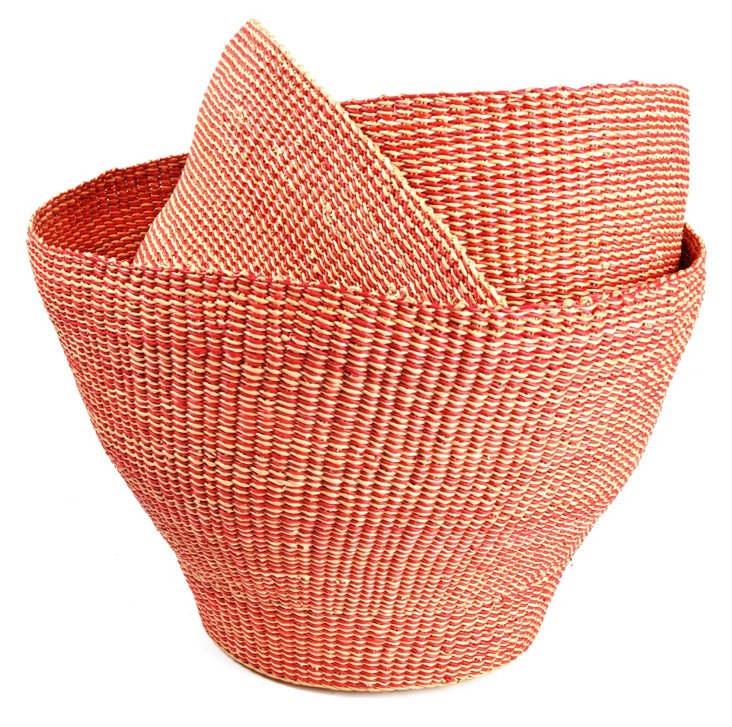 Asst of 3 Bolga Nesting Baskets, Spice