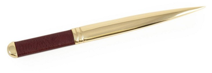 Leather Letter Opener, Gold