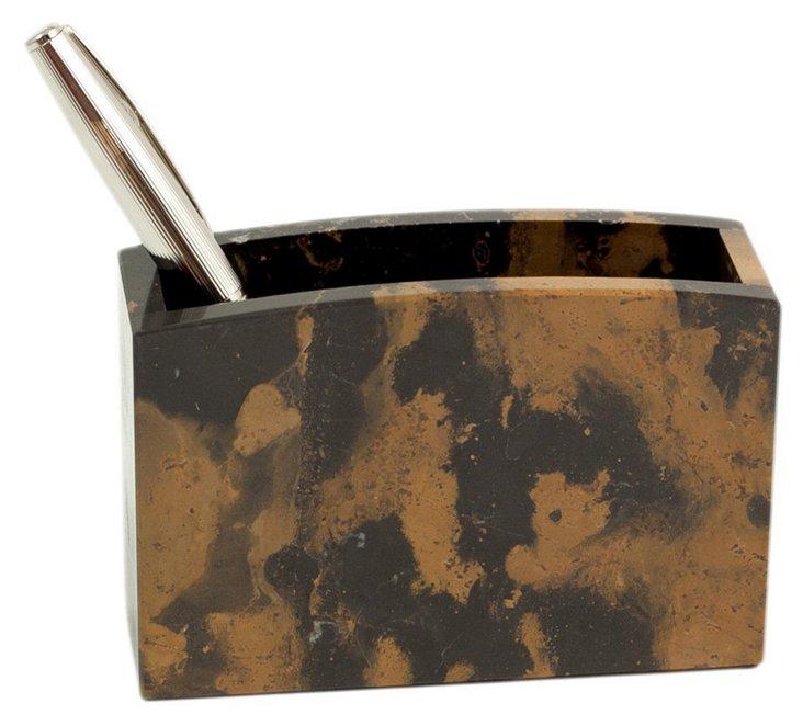 Marble Pencil Box