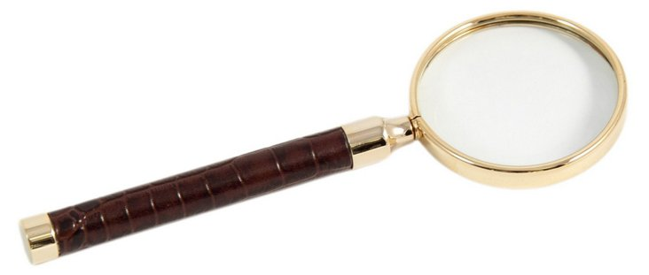 Leather Magnifier, Brown