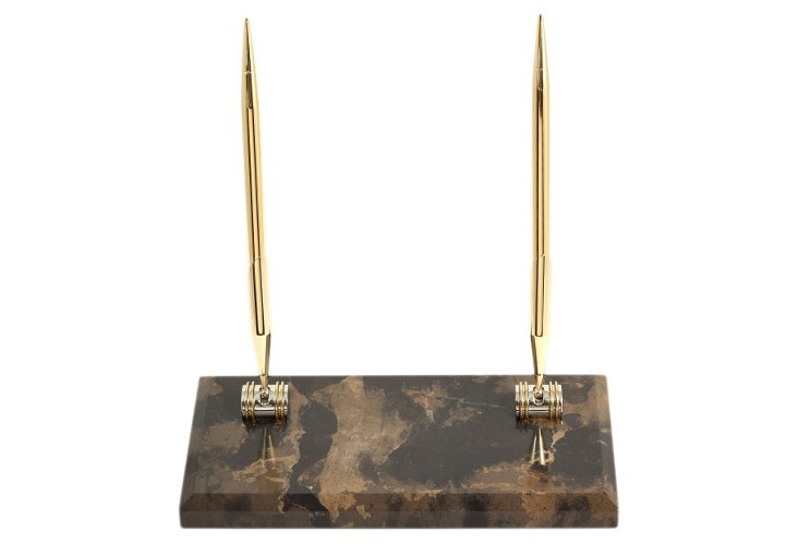 Marble Pen Stand, Gold