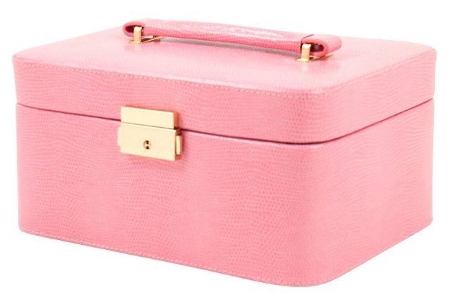 Leather Jewelry Box, Pink
