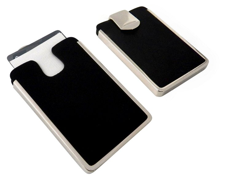 Leather Business-Card Case, Black