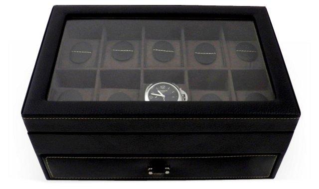 Leather Watch Case, Black