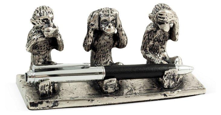 See Hear Speak No Evil Pen Holder