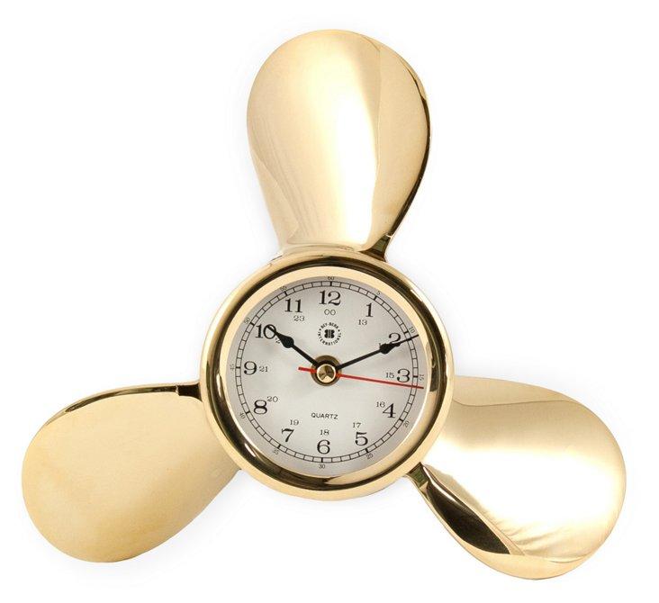 Propeller Clock, Brass