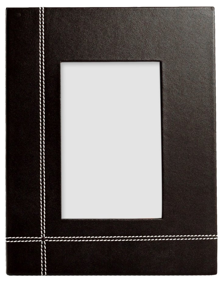 """Coco Brown Leather 4""""x6"""" Picture Frame"""