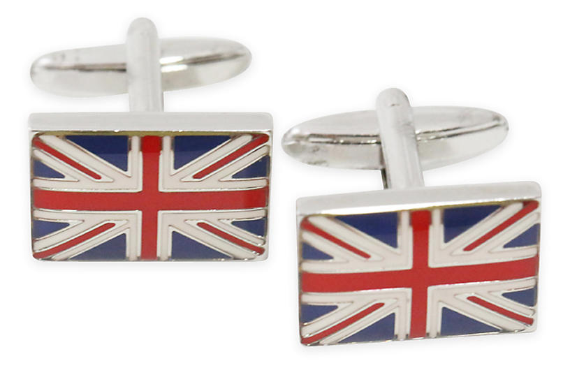Union Jack Cufflinks, Red/Blue