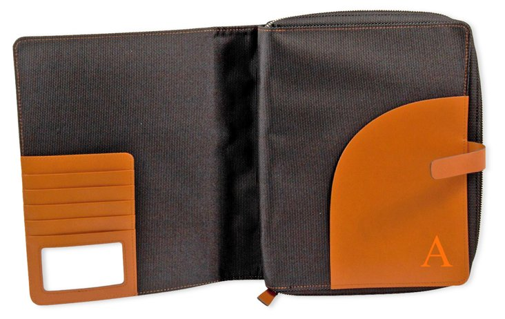 Monogram Leather Tablet Case, Tan
