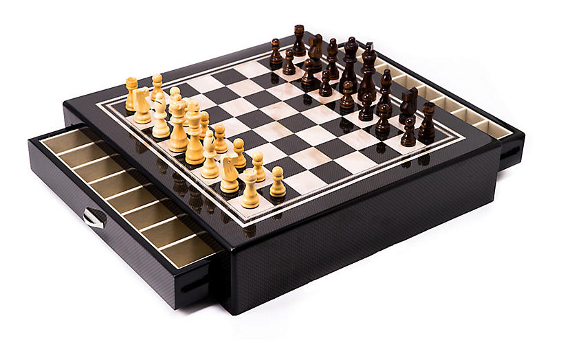Chess Set, Beige/Brown