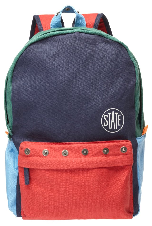 Garfield Bag, Navy/Red